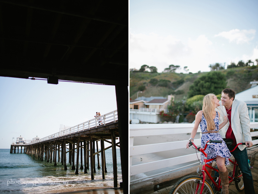 Brandon and Karen engagement -10 - Malibu - pier.jpg