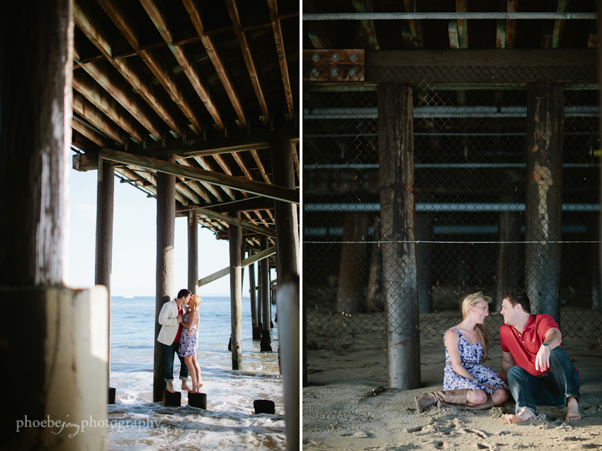 Brandon and Karen engagement -14 - Malibu - pier.jpg