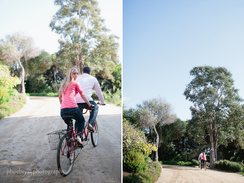 Brandon and Karen engagement -3 - Adamson house - Malibu - tandem bike.jpg