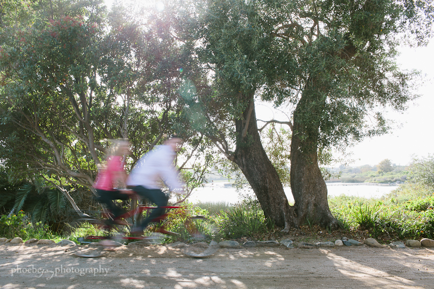 Brandon and Karen engagement -4 - Adamson house - Malibu - tandem bike.jpg