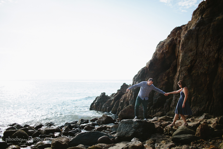Point Dume - Malibu - beach - Jordan & Joris engagement-6.jpg