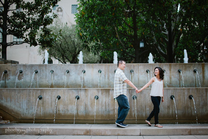 Sam and Eileen engagement-7 - Los Angeles Library.jpg